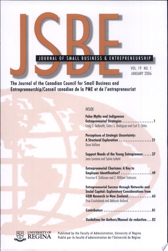 Journal of Small Business and Entrepreneurship