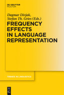 Frequency Effects in Language Representation