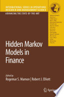 Hidden Markov Models in Finance Book