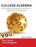 College Algebra with Applications for Business and Life Sciences