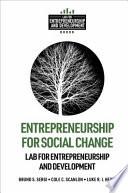 Entrepreneurship for Social Change