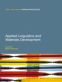 Pdf Applied Linguistics and Materials Development Telecharger