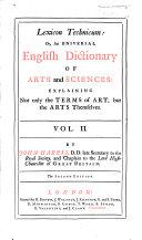Lexicon Technicum ... Second edition