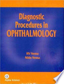 Diagnostic Procedures in Ophthalmology Book