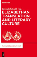 Elizabethan Translation and Literary Culture