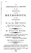 A Chronological History of the People Called Methodists