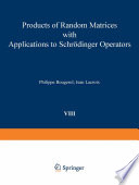Products of Random Matrices with Applications to Schrödinger Operators