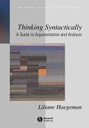 Thinking Syntactically Pdf/ePub eBook