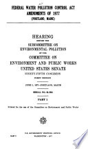 Hearings  Reports and Prints of the Senate Committee on Environment and Public Works