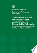 The Reviews into the University of East Anglia's Climatic Research Unit's e-mails