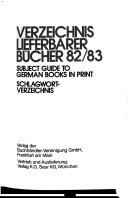 Subject guide to German books in print Book