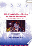 Third Stakeholders Meeting: Insect Resistant Maize for Africa (IRMA) Project