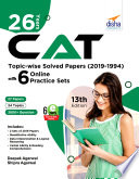 26 Years Cat Topic Wise Solved Papers 2019 1994 With 6 Online Practice Sets 13th Edition