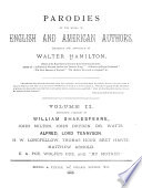 Parodies of the Works of English   American Authors