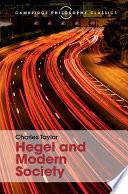 Hegel and Modern Society