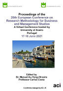 ECRM 2021 20th European Conference on Research Methods in Business and Management