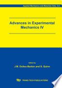 Advances in Experimental Mechanics IV