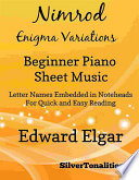 Nimrod Enigma Variations Beginner Piano Sheet Music
