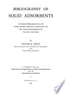 Bibliography of Solid Adsorbents