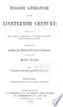 English Literature of Nineteenth Century