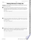Informational Text Making Inferences Practice