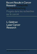 Laser Cancer Research Book