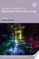 Research Handbook on Electronic Commerce Law Book