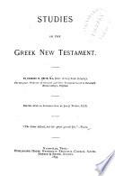 Studies In The Greek New Testament