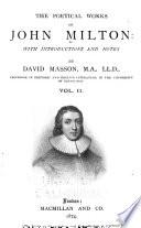 The Poetical Works of John Milton  Paradise regained  Samson Agonistes  Minor poems
