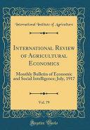 International Review Of Agricultural Economics Vol 79