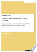 Planning and Administering Project Contracts
