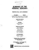 Almanac Of The Federal Judiciary Profiles And Evaluations Of All Judges Of The United States District Courts