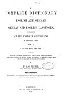 Pdf A Complete Dictionary of the English and German Languages Containing All the Words in General Use