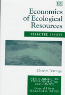 Economics of Ecological Resources