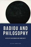 Badiou and Philosophy