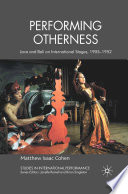 Performing Otherness Book