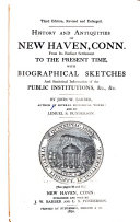 History and Antiquities of New Haven  Conn