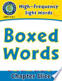 High Frequency Sight Words  Boxed Words Book PDF