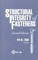 Pdf Structural Integrity of Fasteners