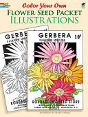 Color Your Own Flower Seed Packet Illustrations