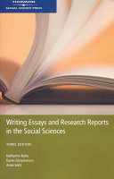 Writing Essays and Research Reports in the Social Sciences