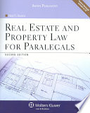 Real Estate And Property Law For Paralegals Book PDF
