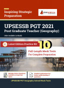 Pdf UPSESSB PGT Geography (Bhugol) Competition Exam Book 2021 | 10 Full-Length Mock Tests (Solved) | Latest Syllabus Book by EduGorilla Telecharger