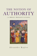 Pdf The Notion of Authority Telecharger