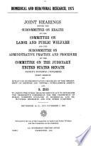 Biomedical and behavioral research  1975 Book