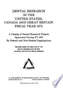 National Institute of Dental Research Programs Book