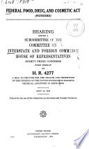 Federal Food Drug And Cosmetic Act Pesticides