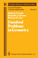 Pdf Unsolved Problems in Geometry