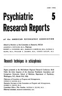 Psychiatric Research Reports