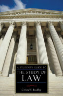 A Student s Guide to the Study of Law